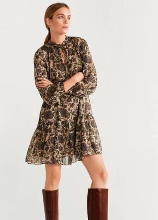 Трендовое платье осенней расцветки