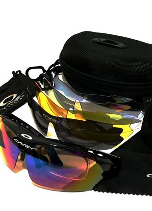 Очки тактические Oakley с поляризацыей 100% 5 сьемных линз