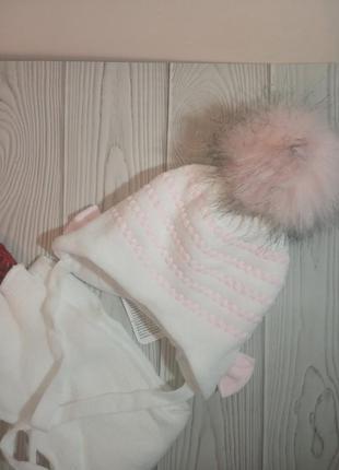 Шапка шарф зимний комплект набор для девочек agbo