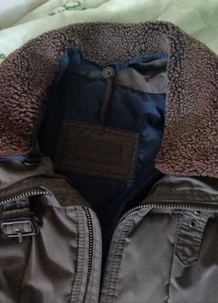Куртка муж. теплая Massimo Dutti, отстежной воротник, карманы, L,