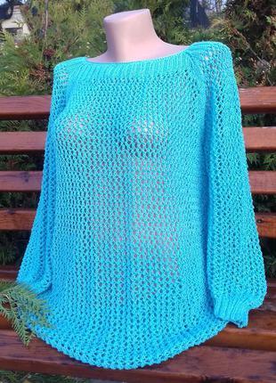 Женский пуловер - сеточка