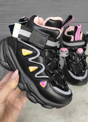 Кроссовки для девочки утеплённые, кроссовки детские, кроссовки...
