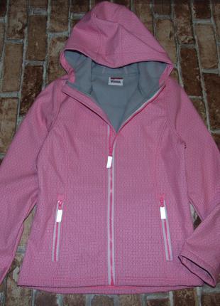 Куртка девочке на флисе 12 лет yigga софтшелл soft shell