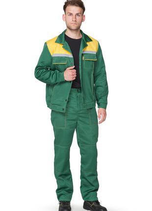 Костюм рабочий состоит из куртки и брюк.