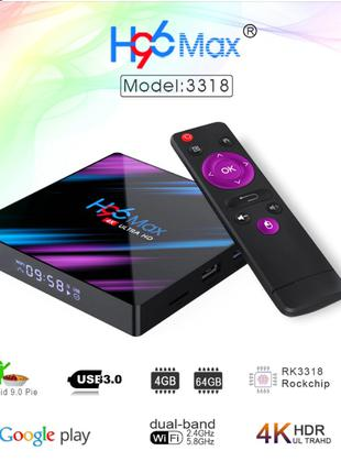 H96 MAX Lemfo Smart TV Box 4/64 Android 9 тв бокс смарт приставка