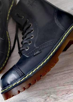 Steel ботинки берцы кожаные осенние мартинсы