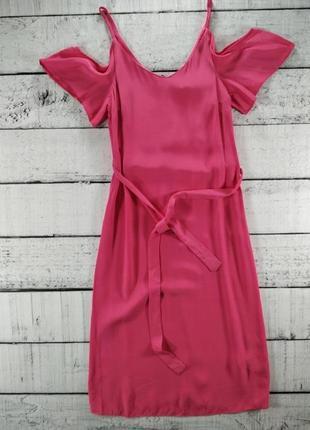 Платье розовое миди а силуэт