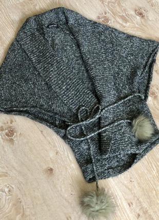 Новый женский свитер - накидка one love.