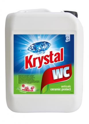 KRYSTAL WC зеленый, кислотный для керамики с защитой 5л