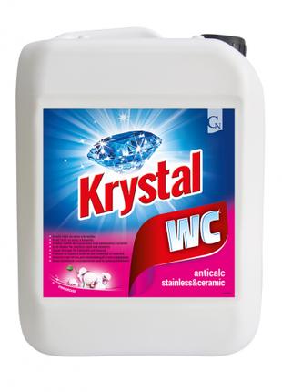 KRYSTAL WC розовый кислотный для нержавеющей стали и керамики 5л