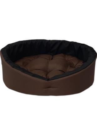 Лежанка, лежак для собак и кошек. Коричневый с черным