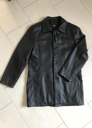 Тренч кожаный мужской стильный модный дорогой  бренд германии ...