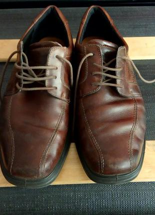 Кожаные туфли ecco,размер 42