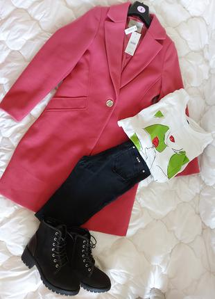 Женское деловое розовое пальто George (Джорж),Англия,новое,