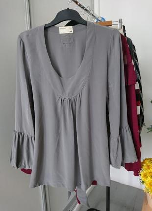 Базовая шелковая блуза №165