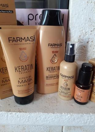 Кератиновая серия для волос фармаси farmasi