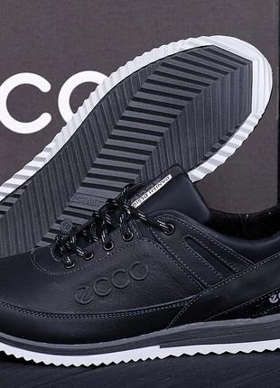 мужские кожаные Кроссовки Ecco(40-45р)