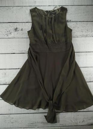 Платье приталеное отрезное хаки esprit