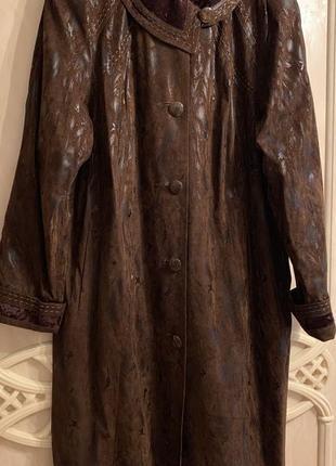 Длинное демисезонное пальто плащ размер 56