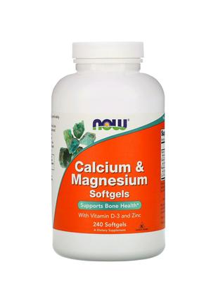 Кальций и магний, с витамином D-3 и цинком, 240 мягких таблеток