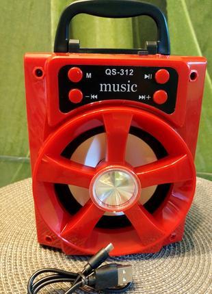 Колонка чемодан с мп3 блютуз и радио