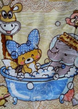 Детское теплое двойное одеяло