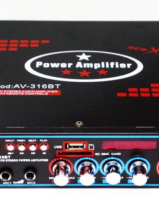 Усилитель UKC AV-316BT - Bluetooth, USB,SD,FM,MP3!  Караоке