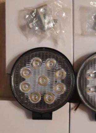 Светодиодная лед фара Фары LED 9 лампочек мтз юмз трактор Нива до