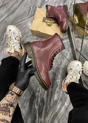Ботинки Dr Martens 1460 Cherry (Мех)