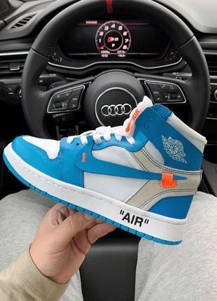 Nike air jordan retro 1 off white женские кроссовки наложенный...