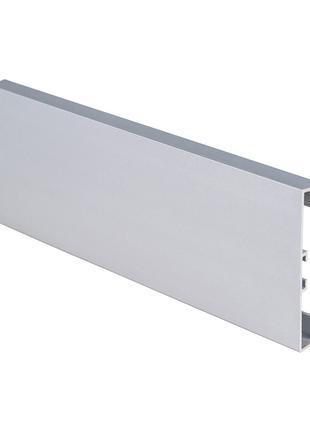 Плинтус алюминиевый накладной прямоугольный 60мм