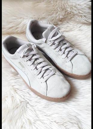 Замшевые кроссовки puma  41 размер