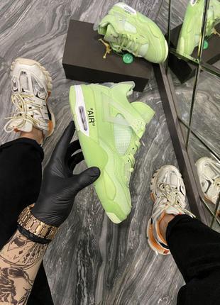 Кроссовки Nike Air Jordan 4 Neon Green