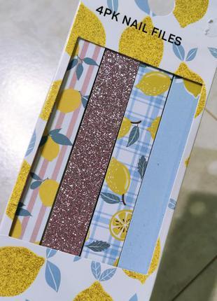 Набор пилочек в ярком оформлении, 4 шт набор