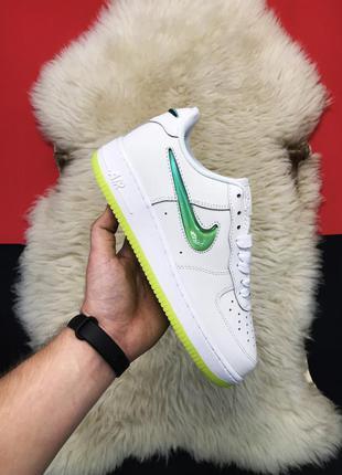 Кроссовки nike air force 1 white green