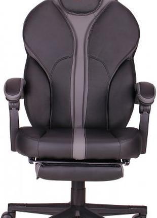 Кресло VR Racer Edge Napa черный/серый