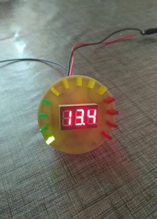 Встраиваемый светодиодный тахометр + цифровой вольтметр