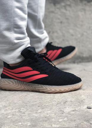 Кроссовки adidas sobakov black red orange