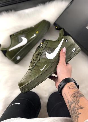 Распродажа! кроссовки nike air force 1 low olive