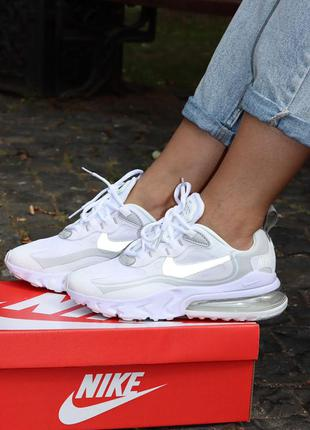 Кроссовки nike air max 270 react white