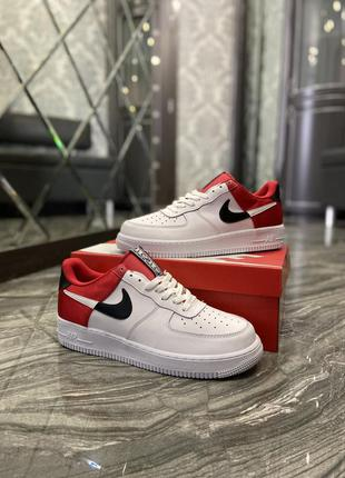 Кроссовки air force 1 low white red