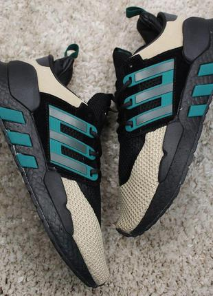 Кроссовки adidas eqt support black green brown