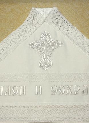 Крыжма крестильная с капюшоном