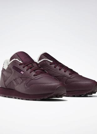 Женские кроссовки reebok classic leather fu7776