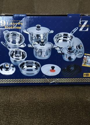 """Набор посуды"""" HOFFBURG"""" HB- 1730. 17 предметов. Новый."""