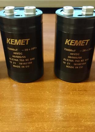 Конденсатор 75000мкФ 40В Kemet
