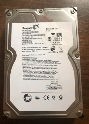 Продам Жёсткий диск HDD Seagate Barracuda ST3100058AS 1TB