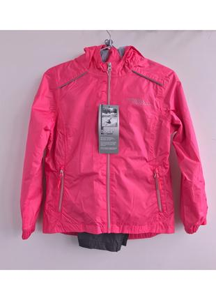 Куртка ветровка непромокаемая розовая / голубая 134/140