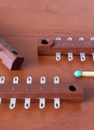 Монтажные колодки, клеммы, контакты для навесного монтажа, планки
