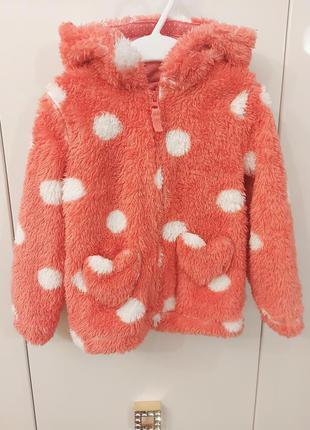 Мягкая курточка на девочку